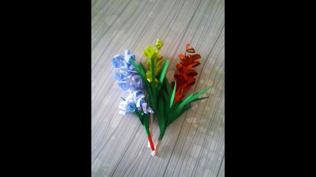 El İşi Kağıdından Kolay Çiçek Yapımı