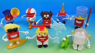 2015 HAPPY IN COSTUME SET OF 8 McDONALD'S HAPPY MEAL KIDS TOYS VIDEO REVIEW