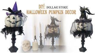 Halloween DIY / PUMPKIN DECOR Dollar Store