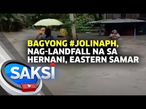 Bagyong #JolinaPH, nag-landfall na sa Hernani, Eastern Samar | Saksi