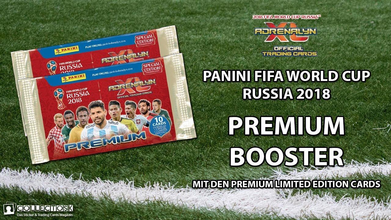 Verzamelkaarten: sport Panini Adrenalyn WM World Cup Russia 2018 Premium 3 x Booster 3 Limited Edition