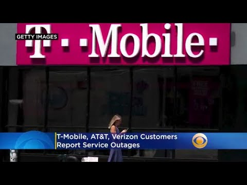 T-Mobile, AT&T, Verizon Customers Report Service Outages
