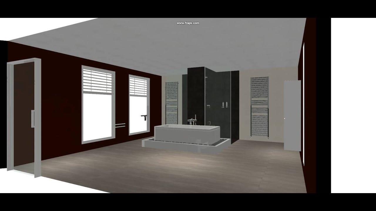 Sanitair dirk sax 3d badkamer ontwerp youtube for Ontwerp badkamer 3d