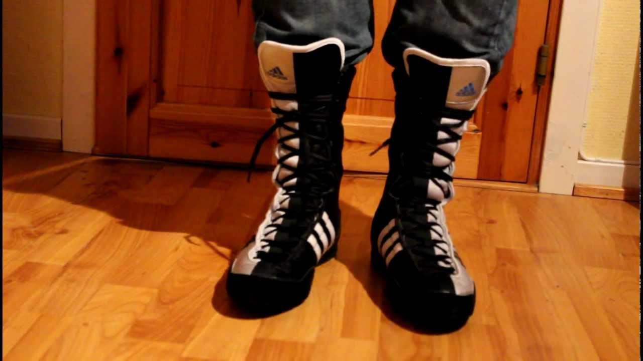 Adidas Adistar boxing boots - YouTube