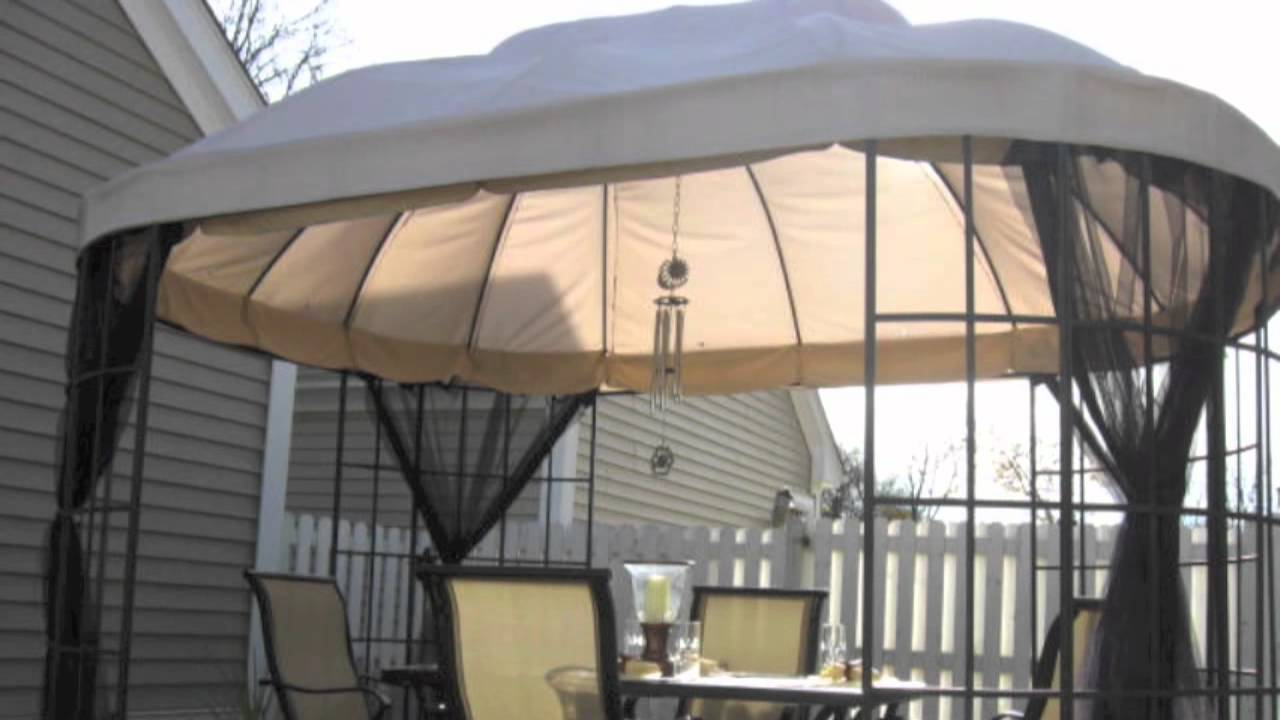 Replacement Canopy for the Home Depot Oval Dome Gazebo - YouTube