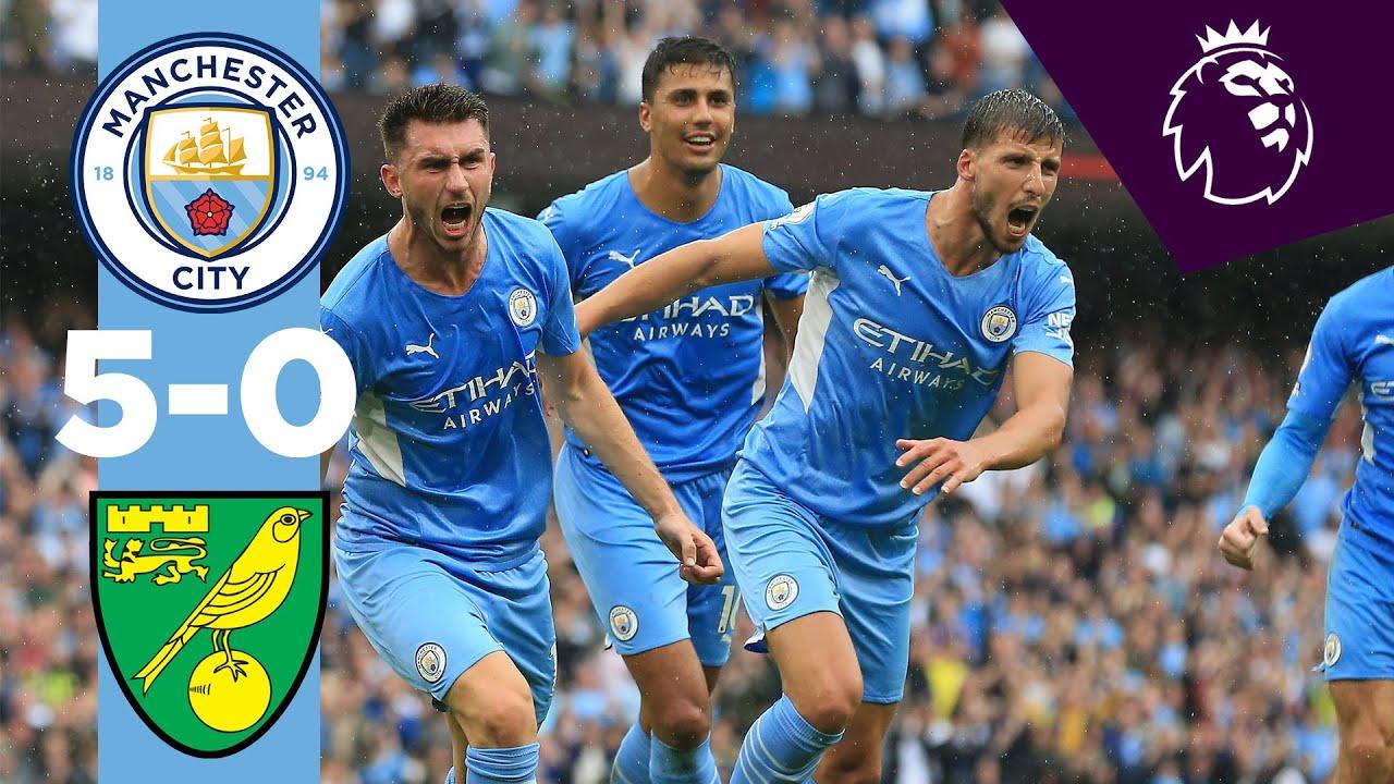 Download HIGHLIGHTS   CITY 5-0 NORWICH   Grealish, Laporte, Sterling, Mahrez