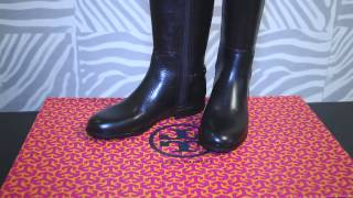 Обзор Tory Burch Jess Leather Riding Boots black review Thumbnail