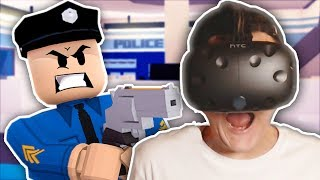 PLAYING ROBLOX JAILBREAK IN VR!! (HTC Vive Virtual Reality)