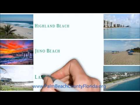 Palm Beach County Florida. Beaches.