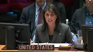 Amb Nikki Haley On the Situation in the Democratic Republic of the Congo Nov 14, 2018