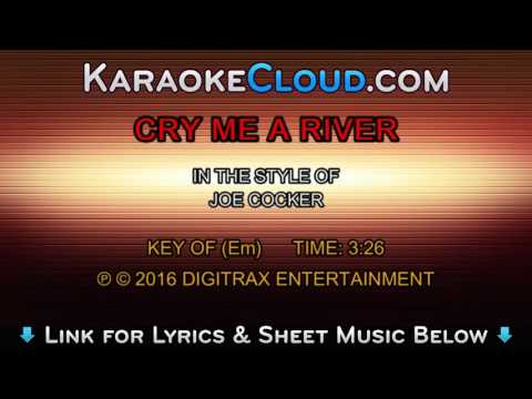 Joe Cocker - Cry Me A River (Backing Track)
