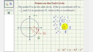 Ex: Find a Point on the Unit Circle Given One Coordinate