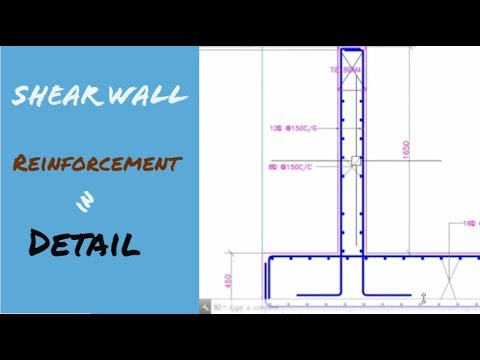 Shear Wall Reinforcement In Detail Youtube