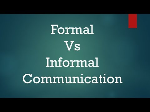 Formal Vs Informal Communication: Difference Between Them With Examples & Types
