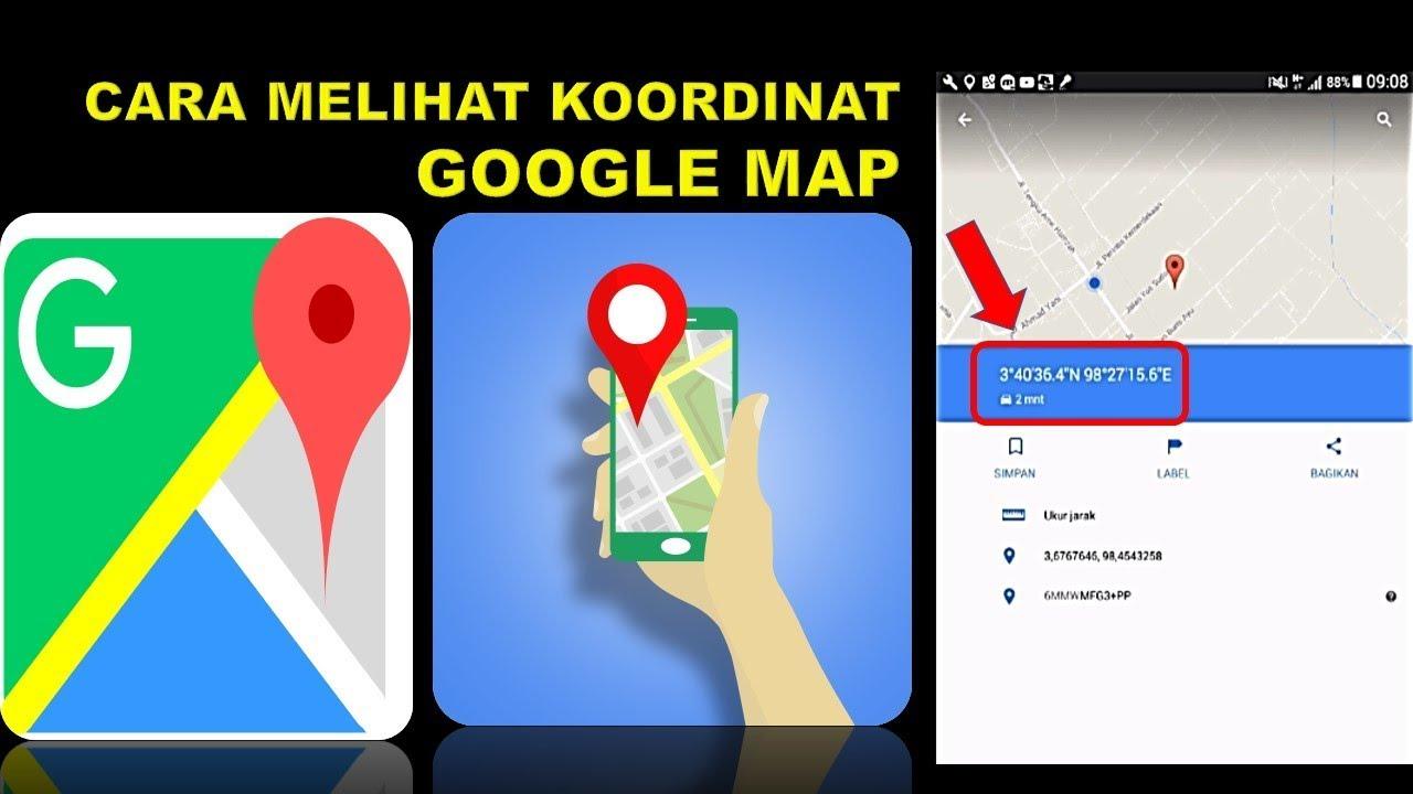 cara melihat memunculkan koordinat di google map