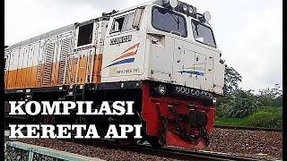 Kompilasi Kereta Api Keluar Masuk Stasiun Purwokerto
