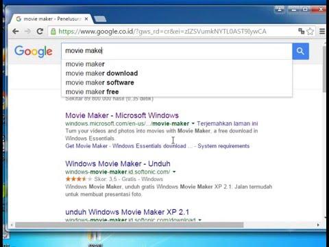 Tutorial cara Download Software Microsoft Movie maker Free alias gratis