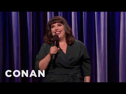 Jenny Zigrino's Butt Set Off The TSA Body Scanner  - CONAN on TBS