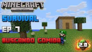 Minecraft PSP | Survival | Episodio 7 | Buscando comida | Loquendo | HD | luigi2498