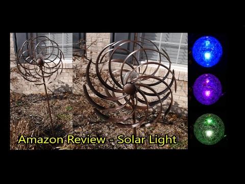 Amazon Review - Solar Wind Spinner LED Light Solar Powered