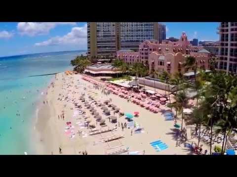 Waikiki Beach, Honolulu, Hawaii (Aerial Views) July 2014 (STAB)