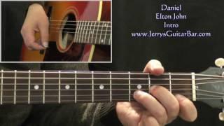 How To Play Elton John Daniel on Guitar (intro only)