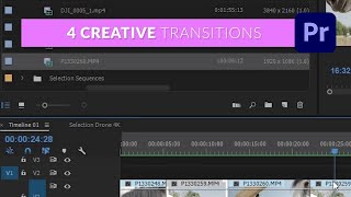 4 Creative Transitions In Premiere Pro - TUTORIAL