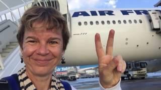 Tahiti - Paris Air France flight 077 (business class)