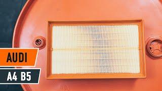 Montera Luftfilter AUDI A4 (8D2, B5): gratis video