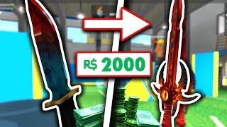 SPENDING 2,000 ROBUX FOR FIRST KNIFE! (Roblox Assassin)