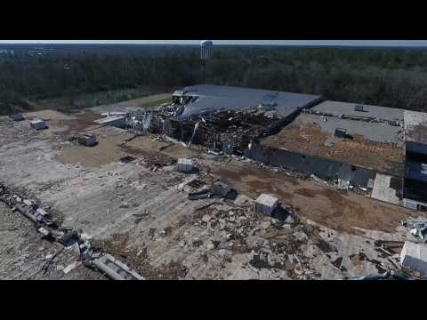 Albany, GA Tornado Damage Jan 22 2017 part 1