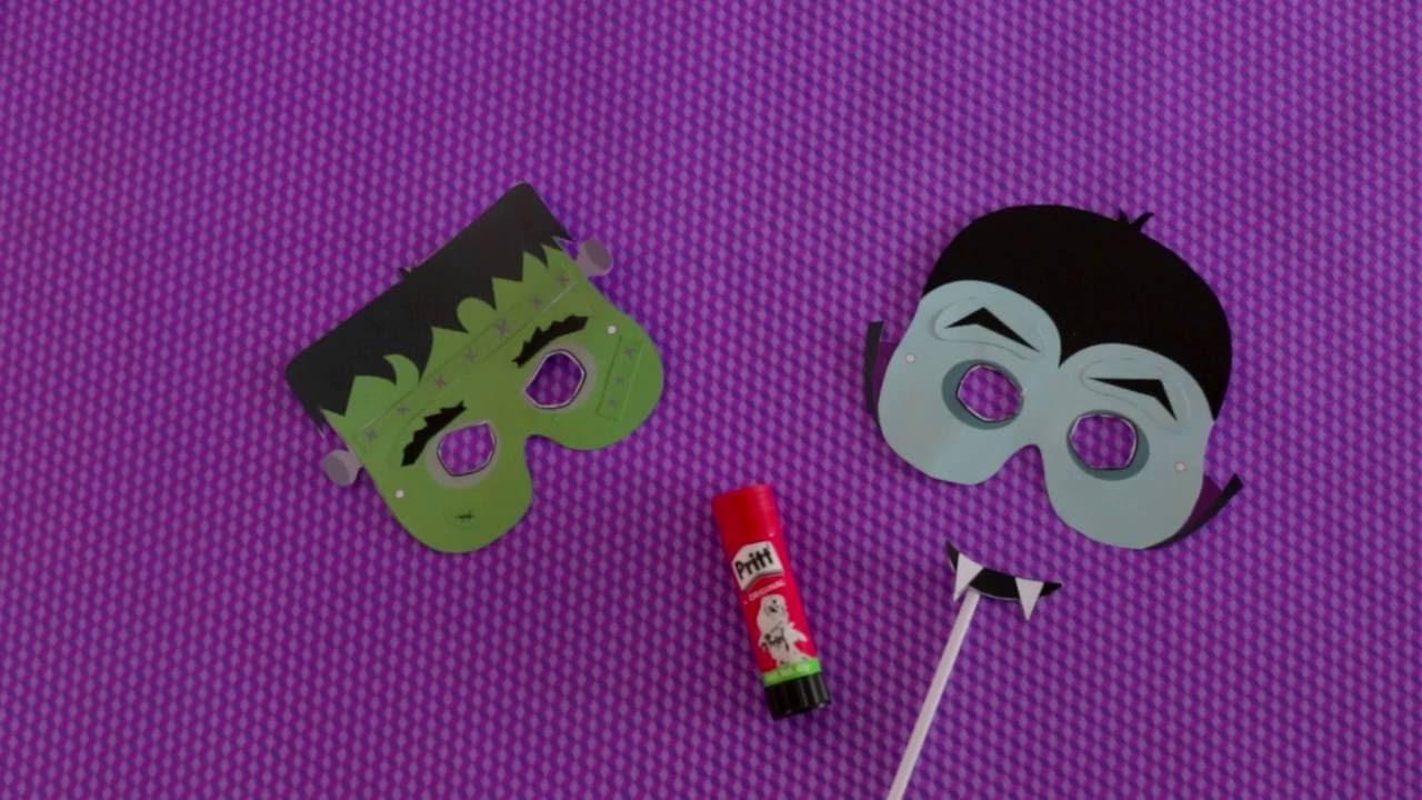 Plantillas Pritt - Máscaras Monstruos - YouTube