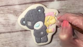 Имбирные пряник: Мишка Тедди айсинг с прорисовкой
