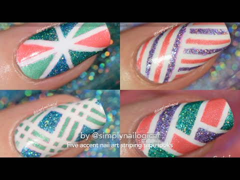 Easy striping tape nail art ideas youtube easy striping tape nail art ideas prinsesfo Images