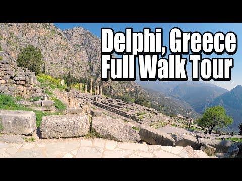 Delphi Ruins Full Walk Up Tour | Delphi, Greece | Tourist Destination | Full HD