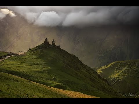 Природа Грузии, водопады и каньоны, горы Сванетии в 4К формате (Ultra HD)