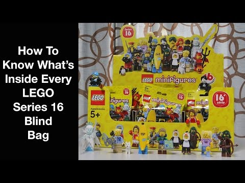 How To Know What's Inside Every Series 16 LEGO Minifigure Blind Bag