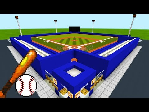 "Minecraft Tutorial: How To Make A Baseball Field ""2019 City Tutorial"""