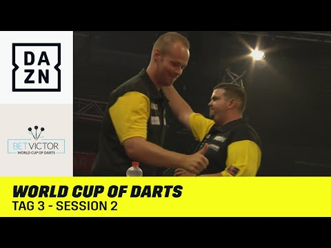 Hopp und Clemens fordern Japan   World Cup of Darts: Tag 3 - Session 2   DAZN