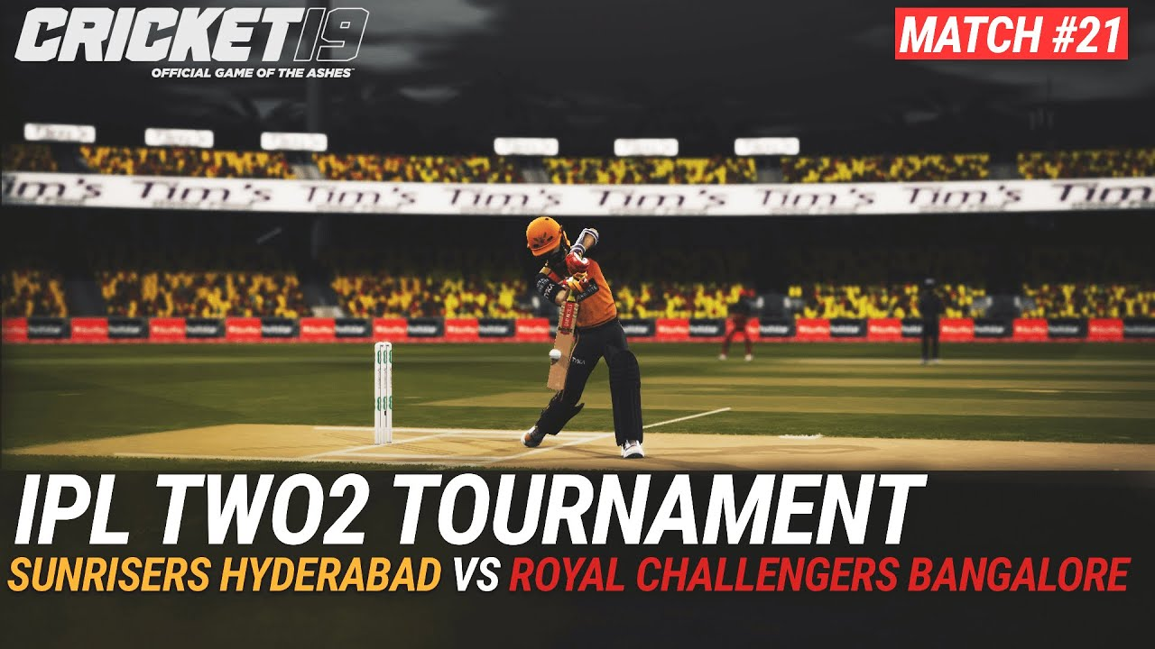 CRICKET 19 - IPL2020 TWO2 - MATCH #21 - SUNRISERS HYDERABAD vs ROYAL CHALLENGERS BANGALORE