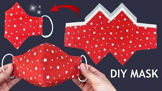 New Style Beautiful 3D Mask Diy Face Mask 3Layers Easy Pattern Sewing Tutorial Breathable Mask