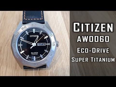 Citizen Eco-Drive Super Titanium AW0060 Watch Review #212