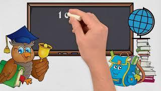 рисованное  видео поздравление ко дню знаний 1 сентября