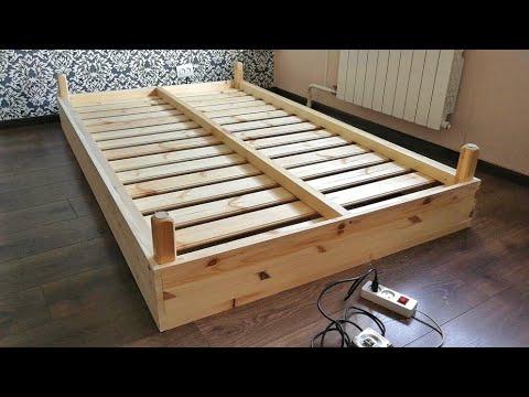 Кровать за копейки! Как сделать простую кровать своими руками?