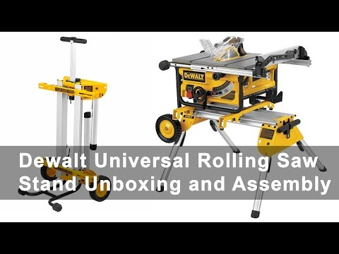 Dewalt Universal Rolling Table Saw Stand Unboxing And Assembly