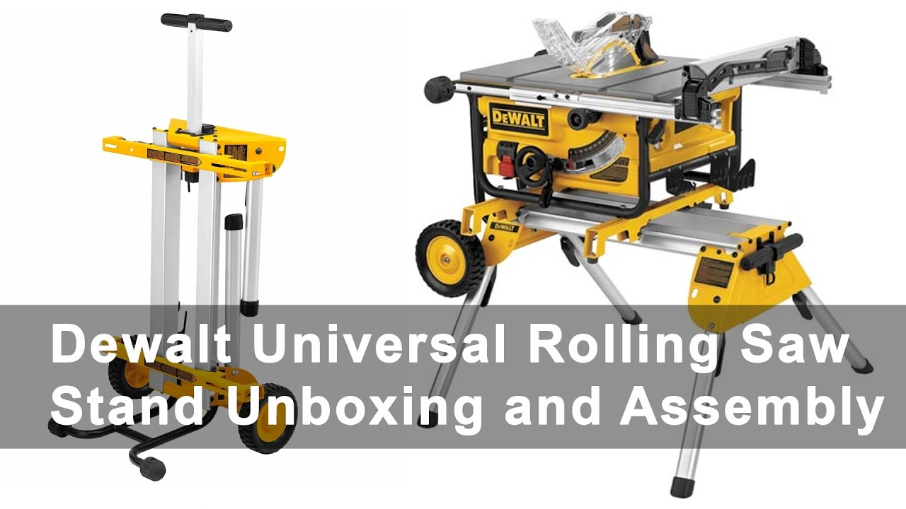 Dewalt Universal Rolling Table Saw Stand Unboxing And Embly