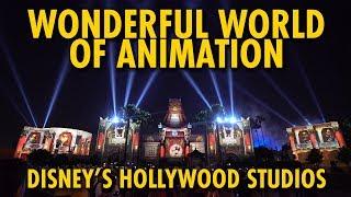 NEW Wonderful World of Animation Projection Show   Disney's Hollywood Studios