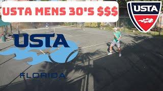 USTA Mens 30's Singles $$$ Florida (UTR 10 - 12) HIGHLIGHTS of 2 Rounds