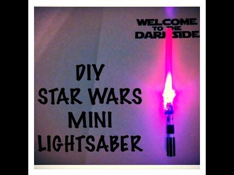 DIY STAR WARS LED lightsaber kids craft tutorial - Birthday party craft