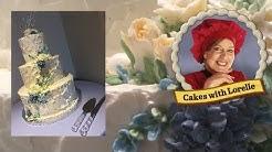 Buttercream Wedding Cake with Buttercream Flowers